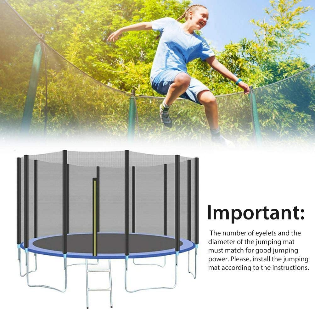 Trampoline Replacement Jumping Mat for 6ft//8ft//10ft//12ft//13ft//14ft//15ft//16ft Black Garden Trampoline Replacement Mat Suitable for Round Trampolines