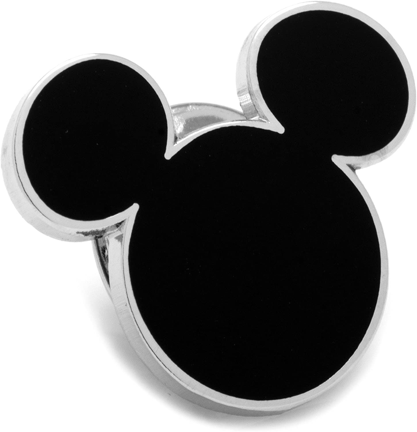 Disney Black Mickey Mouse Silhouette Lapel Pin, Officially Licensed