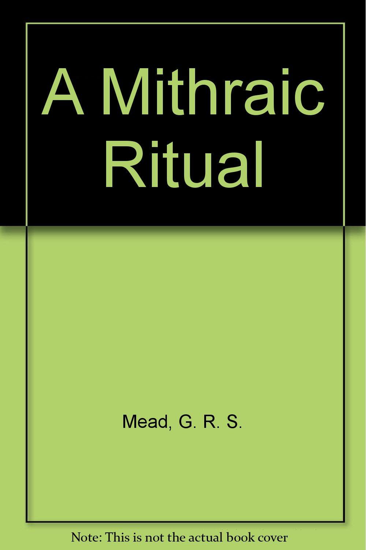 Download A Mithraic Ritual pdf epub