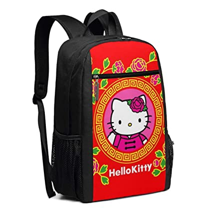 8ce0a3f7a7fb Amazon.com: Travel Laptop Backpack Hello Kitty Red College School ...