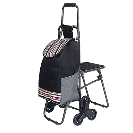 29a1677e2e30 Amazon.com: HCC& Trolley Dolly Shopping Grocery Foldable Cart Climb ...