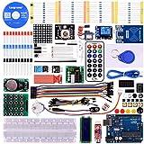 Longruner Upgrade RFID Master Starter Kit for Arduino with Tutorials, UNO R3, RC522, LCD1602, Breadboard and Sensors Modules Motor Servo Jumper Wire LK6 (Arduino kit)