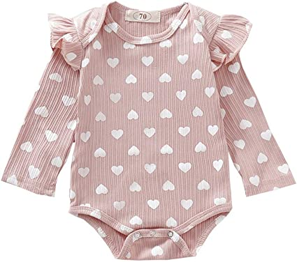 US Newborn Baby Girl Polka Dot Romper Cotton Jumpsuit Infant Bodysuit  Clothes