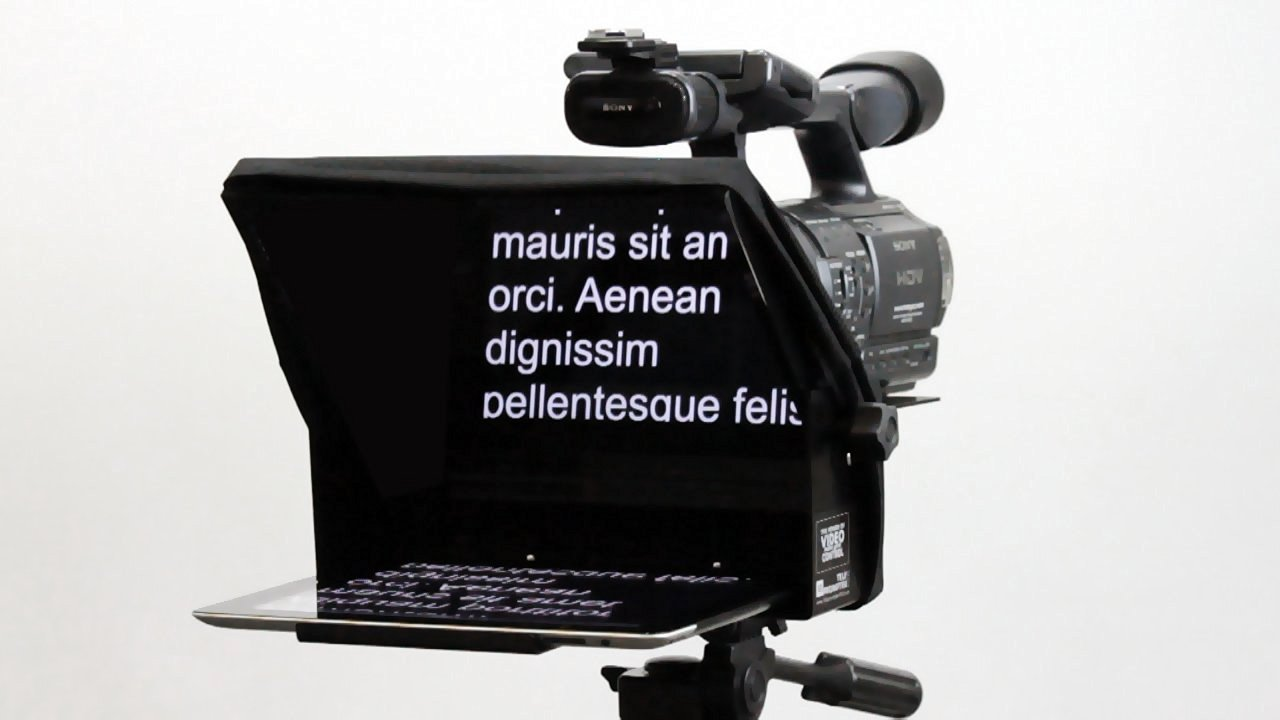 TELEPROMPTER PAD TeleprompterPAD iLight Pro 10'' - 100x100 Aluminum - Robust (No Flimsy Plastic). Compatible with iPad/Android. Portable. Multi Camera. HD Beamsplitter Glass. Made in EU by TELEPROMPTER PAD (Image #8)
