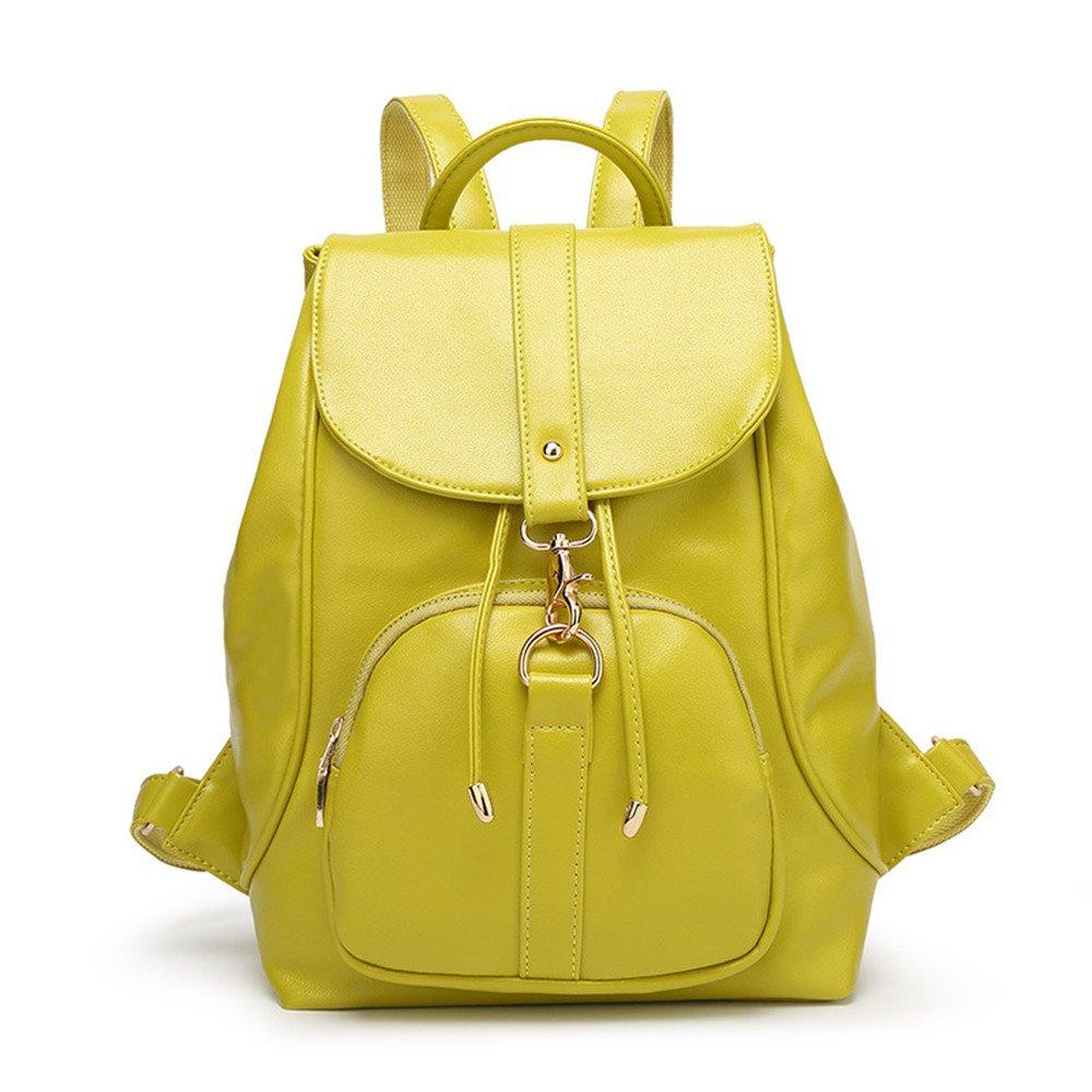 Yellow Ms. shoulders package preppy students shoulders package leisure multifunction backpacks, White