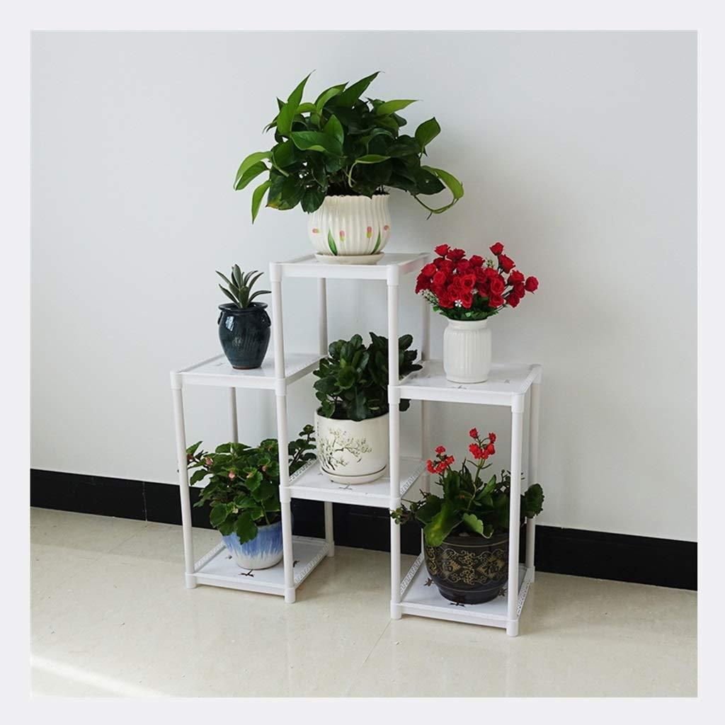 Garanzia di vestibilità al 100% Stand Stand Stand di fiori Xin Portavaso Plastica Sei Piani Montaggio A Pavimento Soggiorno Multifunzione Stile Europeo Decorazione Mensola  migliore qualità