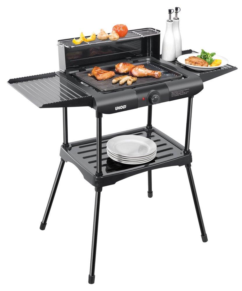 Unold Vario Barbecue-Grill / 1.600 W/Tisch- und Standgrill