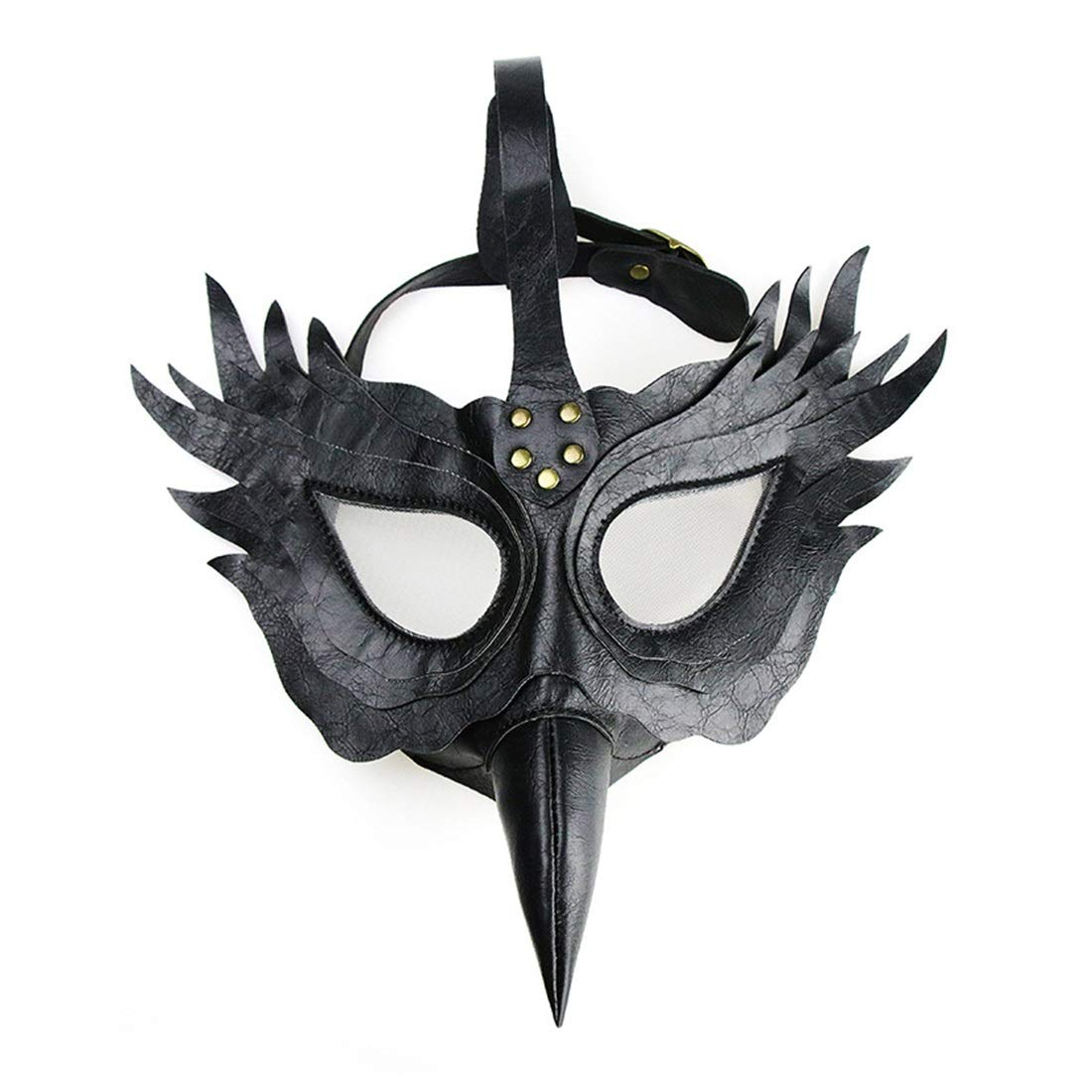 Fepelasi Peste de Cuero Pico de Pico Corto Faux Cosplay Doctor máscara de pájaro Traje de Halloween apoyos Navidad (Color : Style2)
