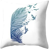 Quietcloud Cartoon Feather Dreamcatcher Print Pillow Case Cushion Cover Home Sofa Decor (1#)