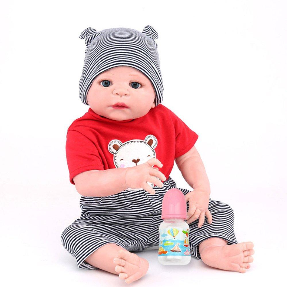 LZTET Volle Silikon Vinyl Reborn Baby Doll Realistische Handgemachte Babys Puppen 22 Zoll 55 cm Lebensechte Kinder Spielzeug B07FNQ6P55 Babypuppen Großer Räumungsverkauf | Konzentrieren Sie sich auf das Babyleben