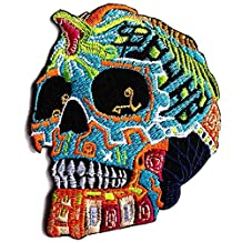King Cobra Snake Mexican Sugar Skull Awesome Cool Embroidered Iron On Patches # WITH FREE GIFT by Eddyshopping