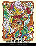 Deer Coloring Books for Adults: Stress-relief