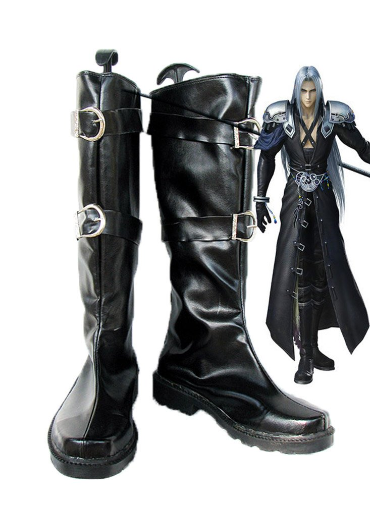 Final Fantasy VII FF7 Sephiroth Cosplay Shoes Boots Custom Made 4.5 B(M) US Female