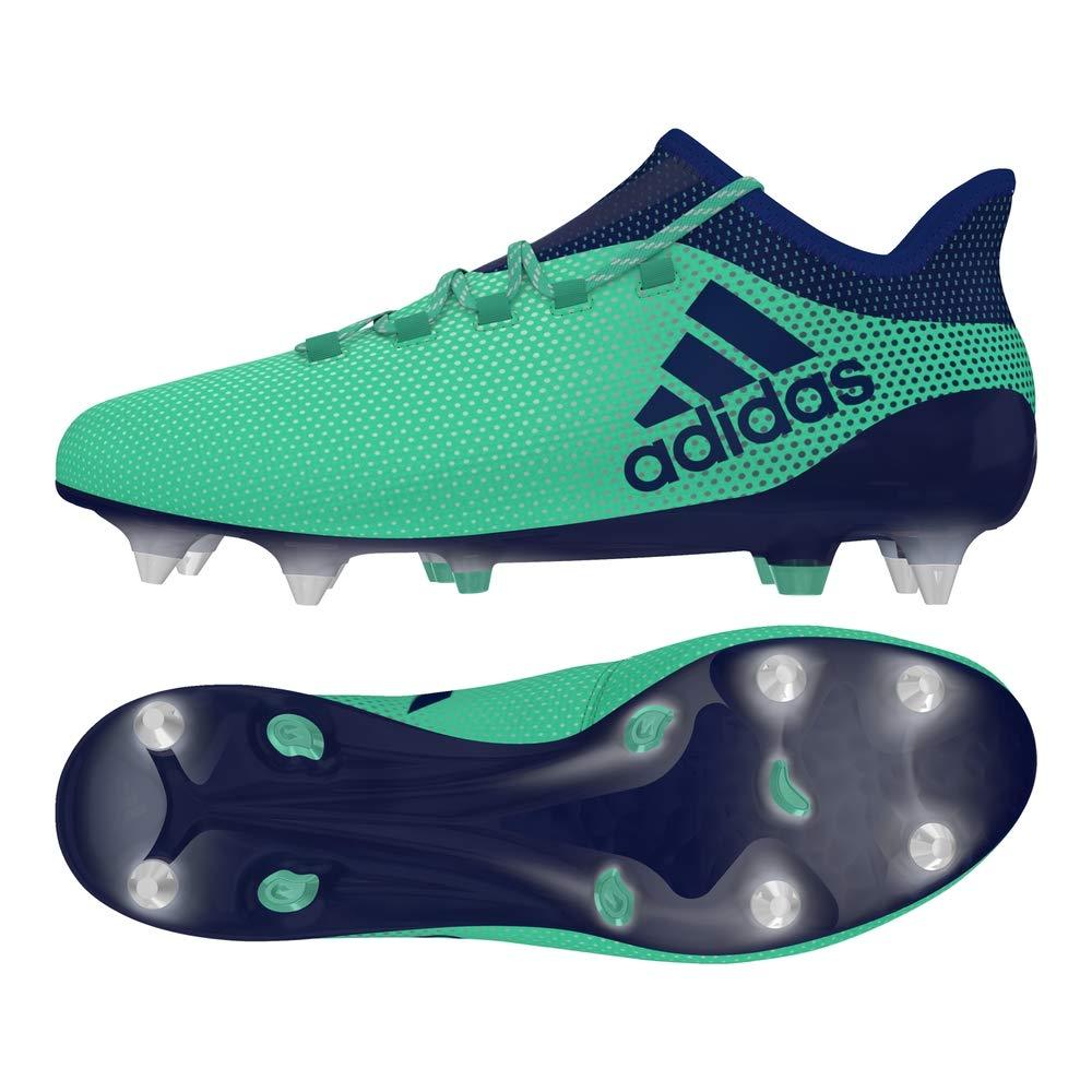 Vert (Aergrn Uniink Hiregr Aergrn Uniink Hiregr) 43 1 3 EU adidas X 17.1 SG, Chaussures de Football Homme