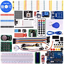 Longruner Upgrade RFID Master Starter Kit for Arduino with Tutorials, UNO R3, RC522, LCD1602, Breadboard and Sensors Modules Motor Servo Jumper Wire LK6 (arduino kit)