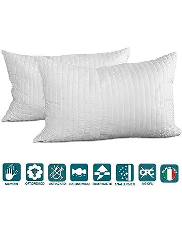 Evergreenweb - Pack de 2 almohadas 40X70 viscoelásticas de copos altos 15 cm. Perfecta adaptabilidad