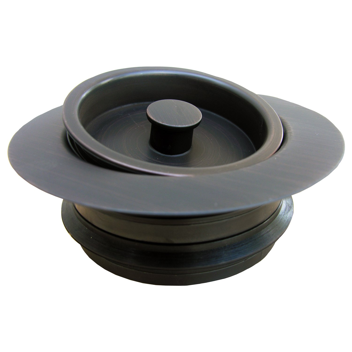 LASCO 03-1075OB Heavy Duty, PVC Body, Universal Disposal Stopper And Flange, Dark Oil Rubbed Bronze by LASCO