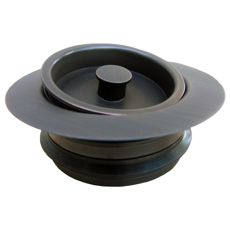 LASCO 03-1075OB Heavy Duty, PVC Body, Universal Disposal Stopper And Flange, Dark Oil Rubbed Bronze