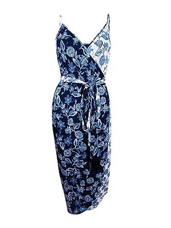 9c427471ae06 Amazon.com: RACHEL Rachel Roy Womens Floral Print Adjustable Straps Slip  Dress Navy 8: Clothing