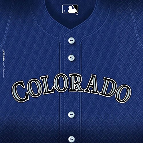 LicensedMLB Colorado Rockies Party Luncheon Party Napkins Tableware, 36 Pieces, Made from Paper by Amscan