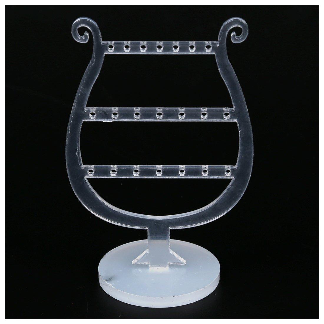 SODIAL R Cristal Acrylique Boucles doreilles Clous doreilles Bijoux Support Presentoir Ensemble 5.1+4.3+3.5