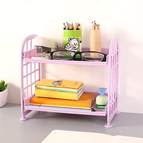 Double Layer Kitchenware Storage Shelf Plastic Desktop Rack Kitchen Accessories