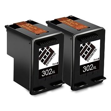 ZOOMTEC Remanufacturado para HP 302XL Cartuchos de Tinta (2 Negro) Compatible con HP DeskJet 1110 1115 2130 2132 3630 3632 3633 HP OfficeJet 3830 3831 ...