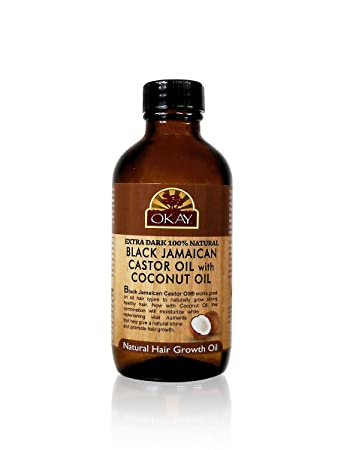 Okay Xtra Dark Black Jamaican Castor Oil With Coconut Oil