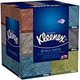Kleenex Everyday Use, Soft Facial Tissues, Thick and Absorbent, 160, 2-PLY White Tissues, 6 Bundle Pack - 960 Total Tissues. Variety of Assorted Colors and Designs.