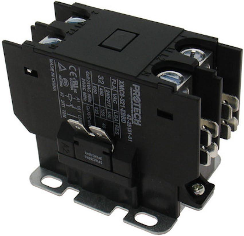rheem air conditioner wiring diagram rheem ruud 30a 1 pole contactor with 24v coil 42 25101 01 amazon  rheem ruud 30a 1 pole contactor with
