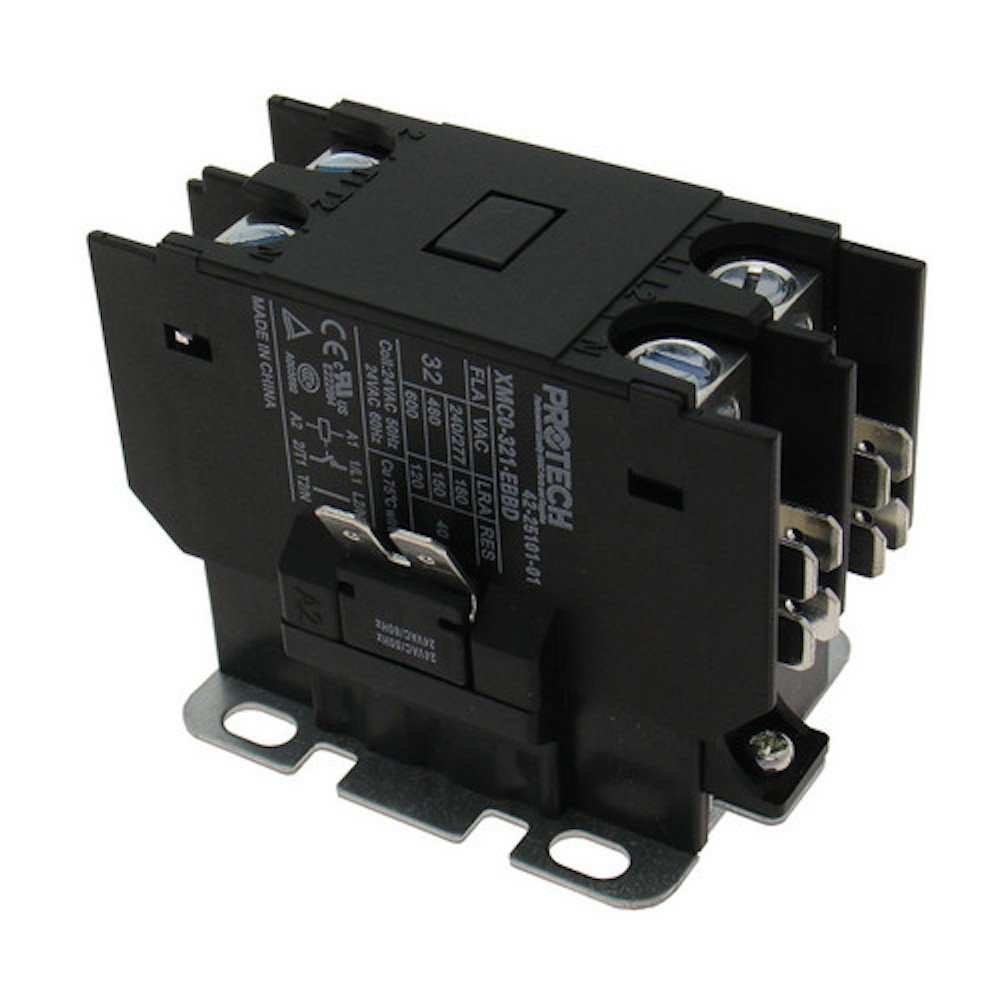 61C 2GUUMoL._SL1000_ rheem ruud 30a 1 pole contactor with 24v coil 42 25101 01 amazon Rheem Thermostat Wiring at gsmportal.co