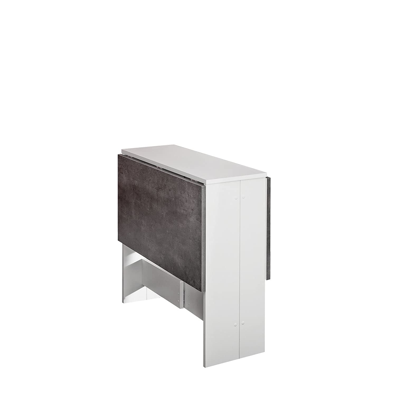 Modern Loft Mesa Plegable Trick C3, blanco, gris, metal, rectangular