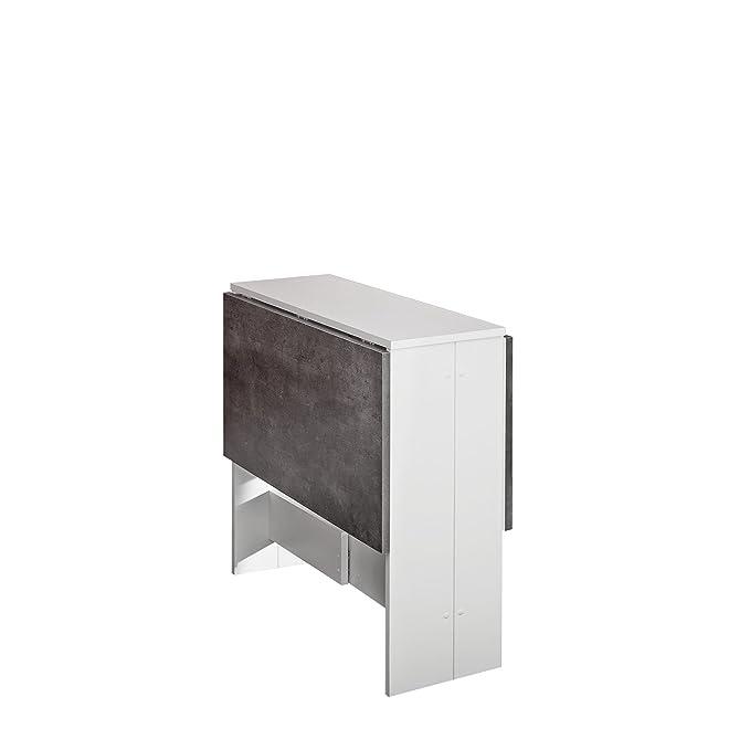 Amazon.com: Symbiosis contemporáneo mesa plegable con 2 ...