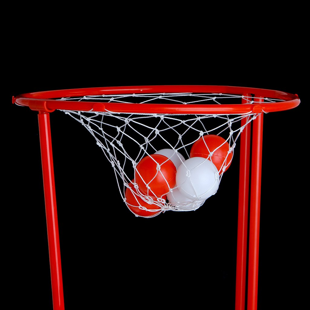 Jiamins 1 Set Stirnband-Hoop-Ball-Spielzeug Basketball Kid Spiel Kopfband Mit 20 Kugeln