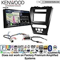 Volunteer Audio Kenwood DNX874S Double Din Radio Install Kit with GPS Navigation Apple CarPlay Android Auto Fits 2010-2012 Fusion (Black) (Not for factory amplified systems)