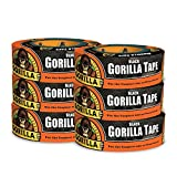 Gorilla Tape, Black Duct Tape, 1.88'' x 35 yd, Black, (Pack of 6)