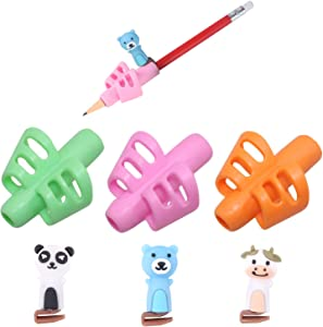 Pencil Grips for Kids Handwriting,Ergonomic Training Pencil Grip,Writing Aid Claw Set Hollow Ventilation Finger Gripper Posture Correction Tool for Children Preschoolers Student + 3 Pcs Pen Nib(Girl)