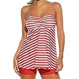 Swimsuits for Women Tankini Set Plus Size Stripe