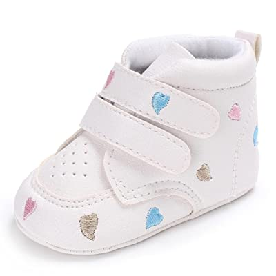 Baby Shoes, Kanzer Girl Boys Heart-shaped Embroidery Anti-slip Soft Sole  Toddler f9f3ae5a170