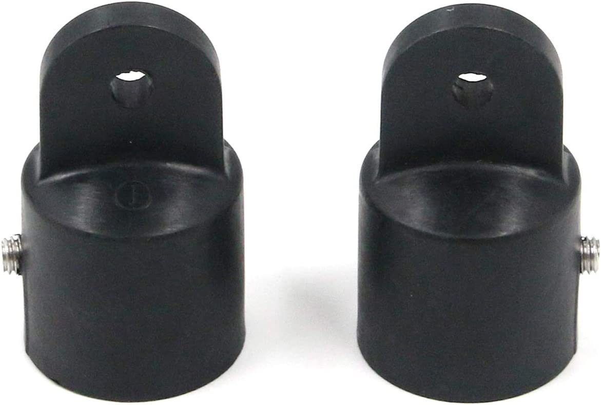 Geesatis 2 pcs Bimini Top Fittings Hardware Cover Cap Eye End, Boat Jaw Slide Accessories Tool, Black, Nylon, Corrosion Resistance, Fit 25.4mm / 1 inch Tube