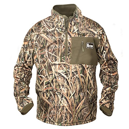 Banded 1/4 Zip Mid Layer Pullover, Color: Blades, Size: Large (462)