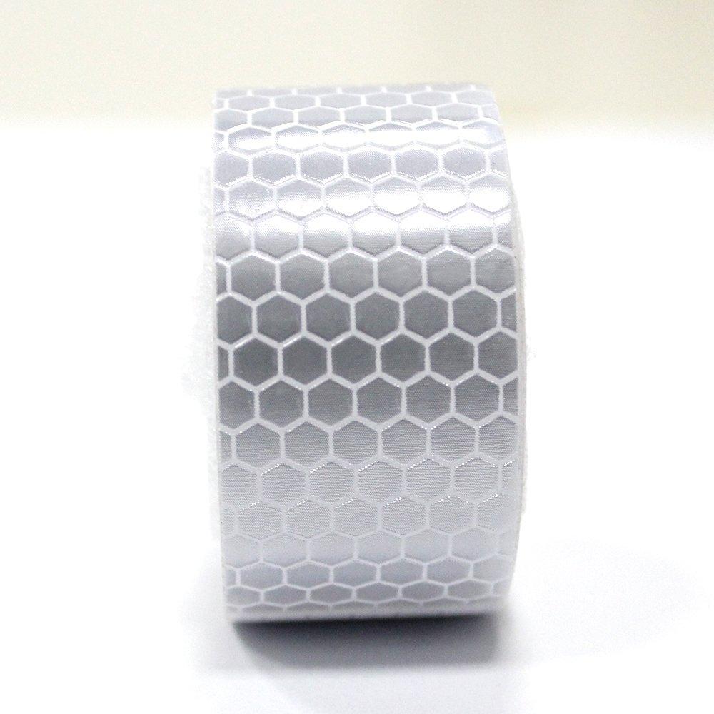 muchkey/® Cinta de advertencia Reflector cinta 25/mm x 2,5/m blanco 1pieza