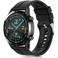 Find-MyWay Pasek kompatybilny z Huawei Watch GT 2 (46 mm)/GT2 pro/GT 2e/GT(46 mm) dla kobiet i mężczyzn, 22 mm miękki…