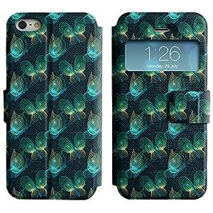 LEOCASE mariposa verde Funda Carcasa Cuero Tapa Case Para Apple iPhone 5 / 5S No.1003780