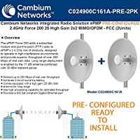 Cambium ePMP PRE-CONFIGURED 2.4GHz Force 200 High Gain Radio 2x2MIMO/OFDM -2Pack