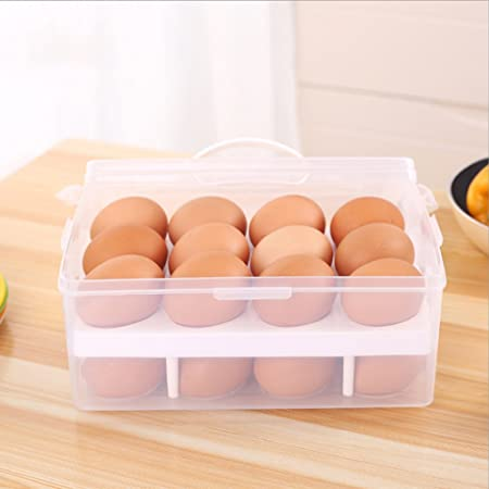 De gran capacidad de doble-Layers titular de huevo contiene 24 ...