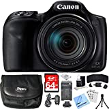Cheap Canon PowerShot SX540 HS 20.3MP Digital Camera w/ 50x Optical Zoom 64GB Card Bundle includes Camera, Card, Wallet, Case, Mini Tripod, Screen Protectors, Cleaning Kit, Beach Camera Cloth and More!