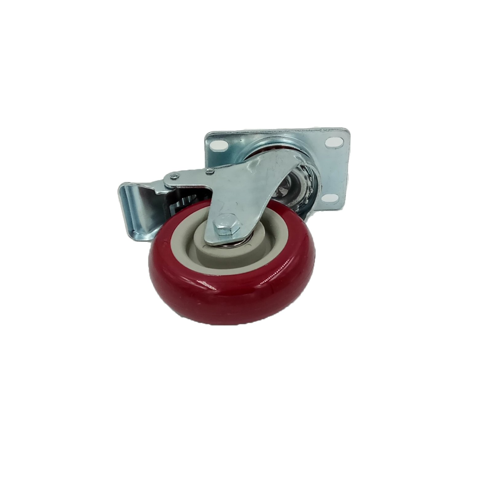 4″ PVC Heavy Duty Swivel Caster Wheels Lockable Ball Bearing 300Lbs each (Set of 16) by MarsIndustry (Image #3)