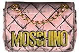 Moschino women's leather shoulder bag original pink
