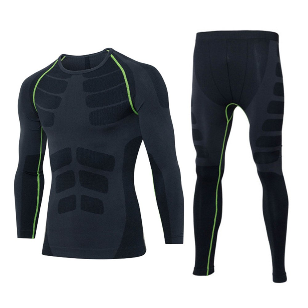 MOOTOO Mens Long Thermal Underwear Warm Lined Winter Base Layering Set Outdoor Sport Motorcycle Skiing Winter